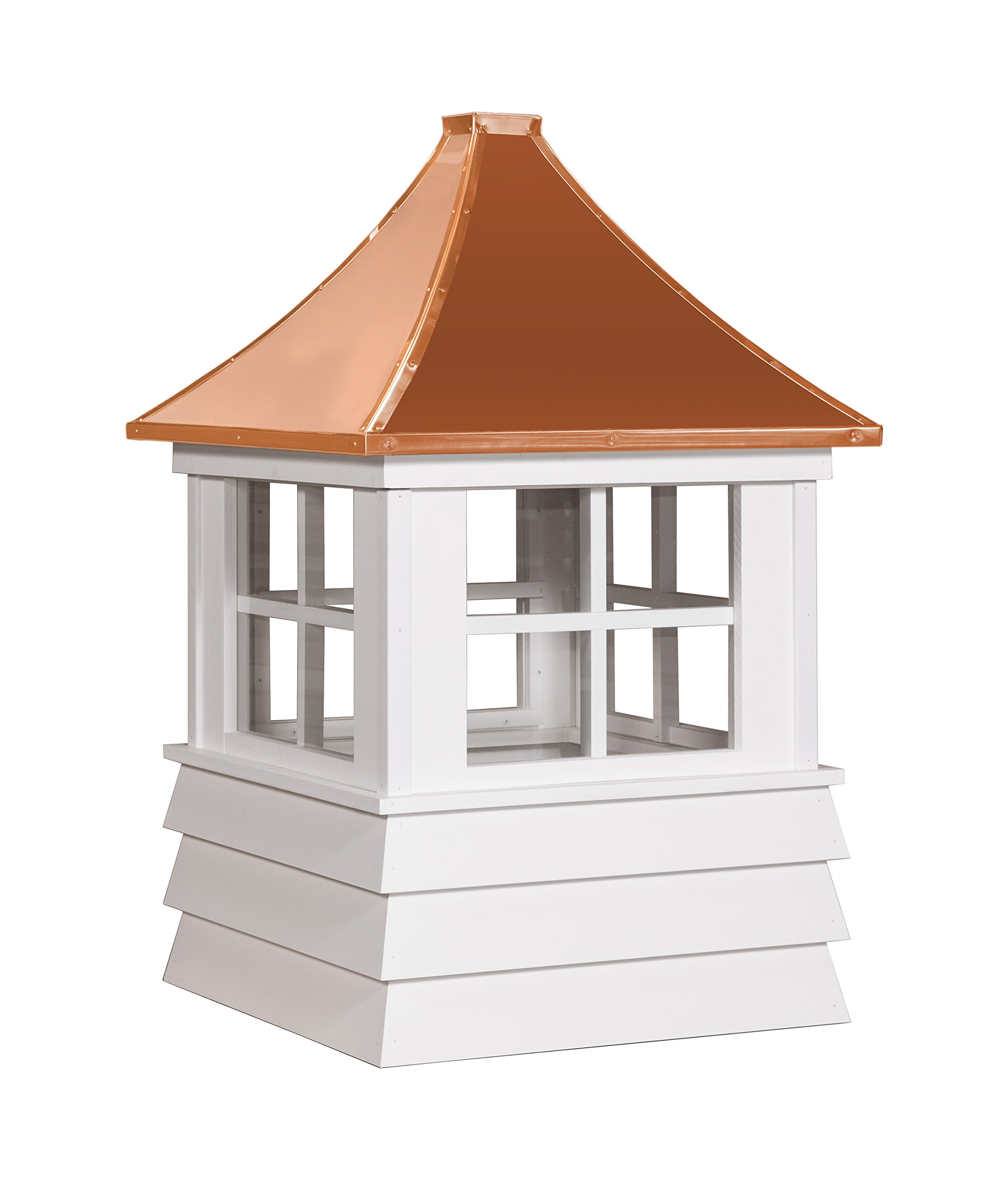 East Coast Weathervanes and Cupolas Vinyl Rochester Cupola (Vinyl, 25 in square x 40 in tall) by East Coast Weathervanes and Cupolas