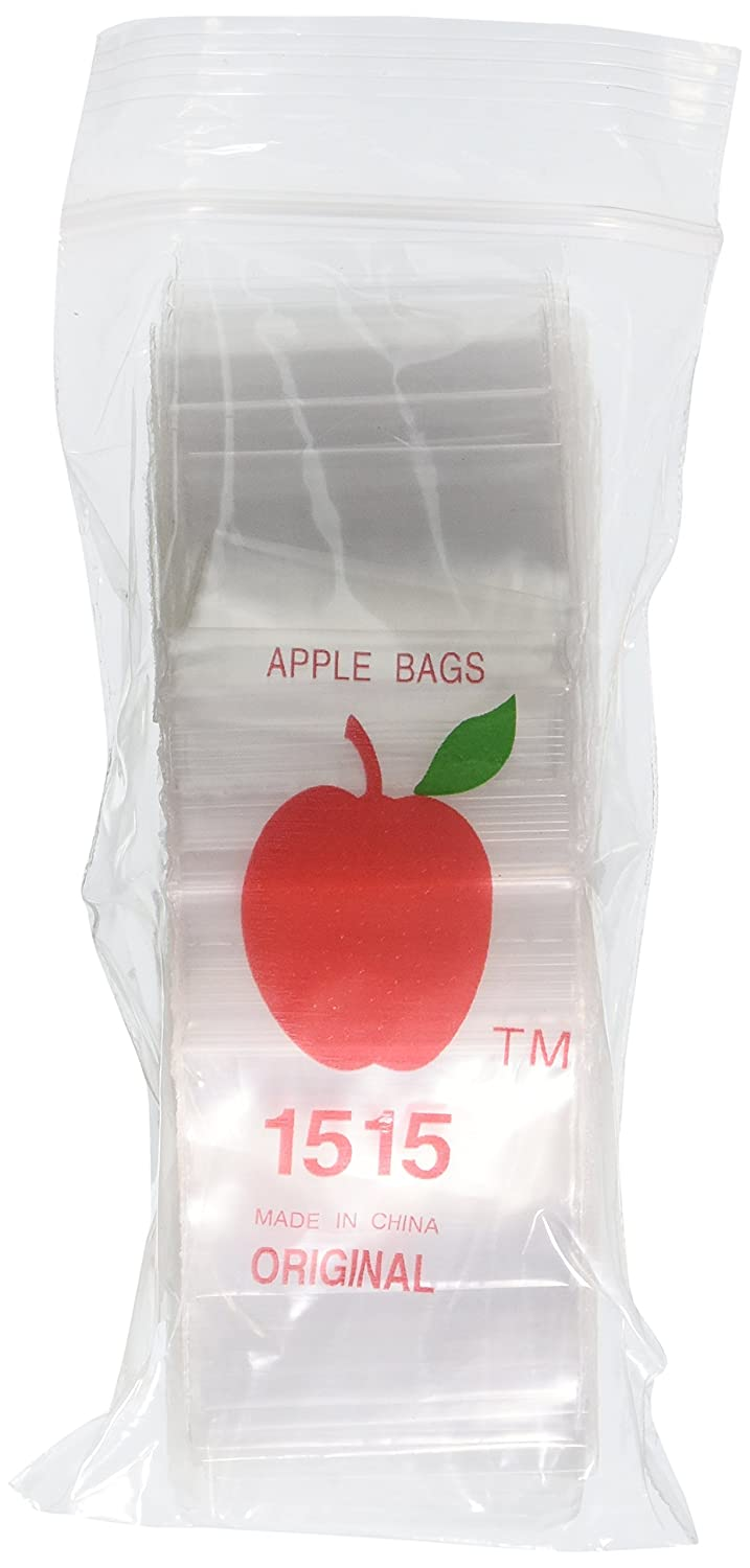Apple Brand 1515 Clear Ziplock Bags, 1000 Count
