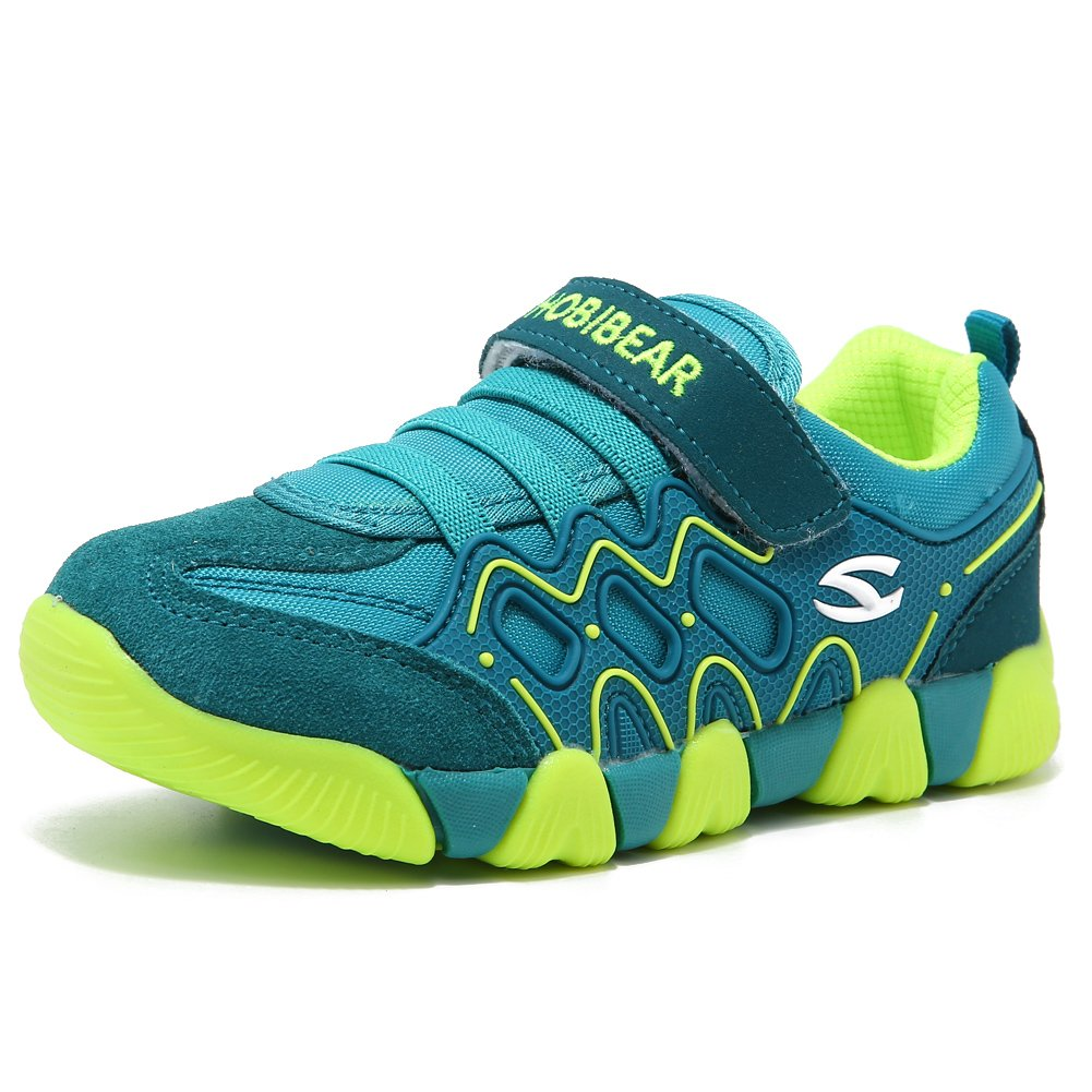 Children Outdoor Strap Athletic Sneakers Running Shoes (Green,8.5 Toddler)