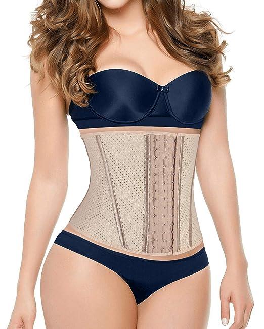 5eb3f9d21d90a DeepTwist Women s Waist Trainer Latex Slimming Body Shaper Tummy ...