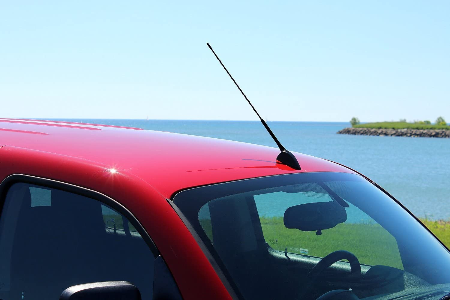Internal Copper Coil - Car Wash Proof Short Rubber Antenna AntennaMastsRus 2007-2011 The Original 6 3//4 Inch is Compatible with Mercury Milan German Engineered Premium Reception