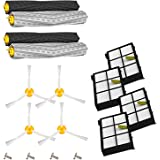Amyehouse 12pcs Replenishement Kit for iRobot Roomba 800 900 Series 805 860 870 871 880 890 960 980 Vacuum Accessories, Replacement Parts with 2 Set Extractors 4 Filters 4 Side Brushes & Screws