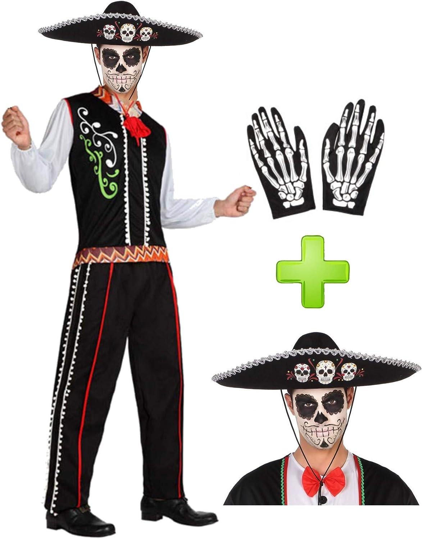 Disfraces Halloween Disfraz de Catrino Mexicano: Amazon.es: Ropa y ...