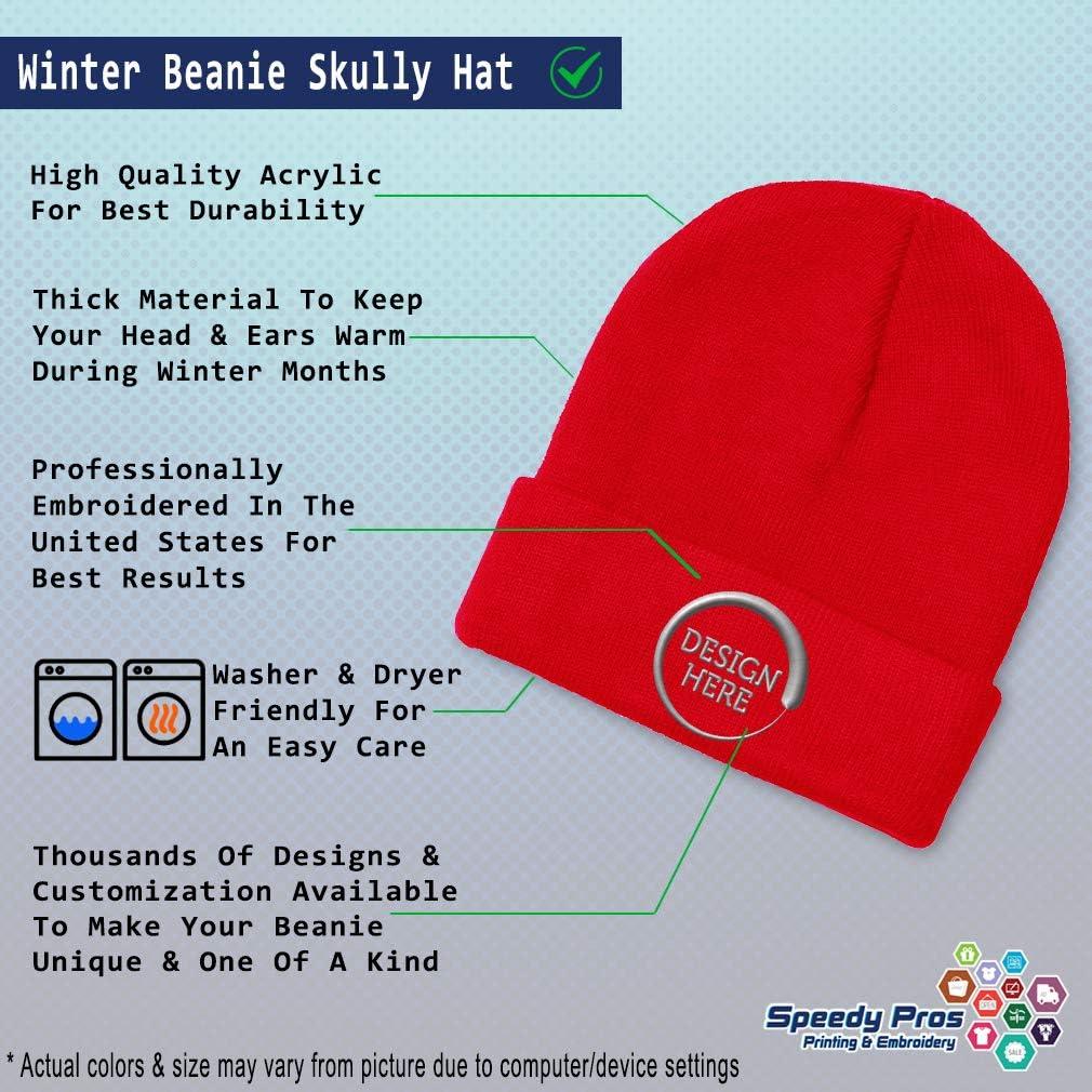 Custom Beanie for Men /& Women Dutch B Embroidery Acrylic Skull Cap Hat