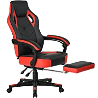 Coavas Computer Gaming Chair High-Back Racing Chair with Footrest and Reclining