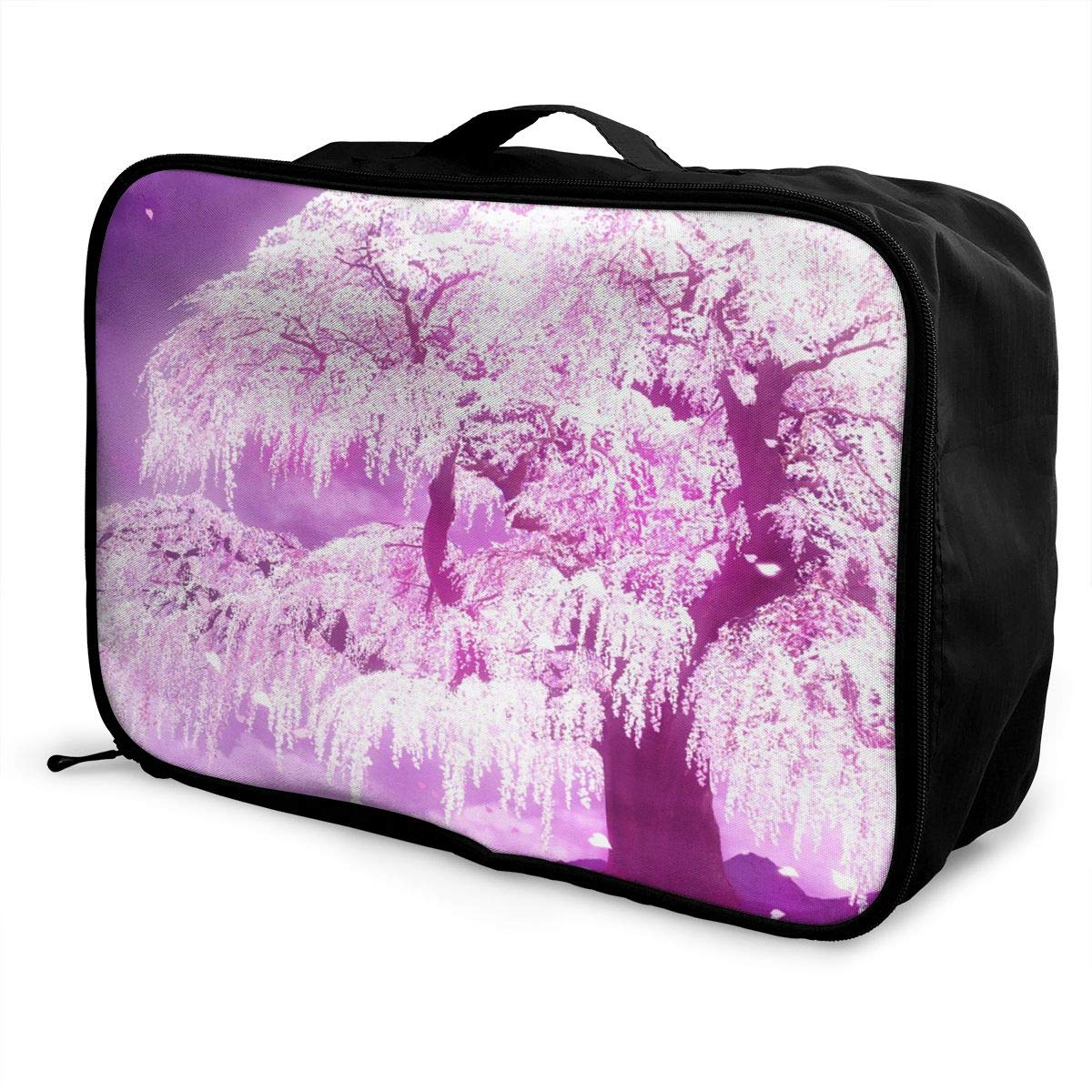 Travel Luggage Duffle Bag Lightweight Portable Handbag Cherry Print Large Capacity Waterproof Foldable Storage Tote