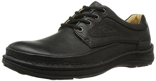 634a0b4bfb Clarks Nature Three, Men's Derby, Black (black Leather), 5 UK (