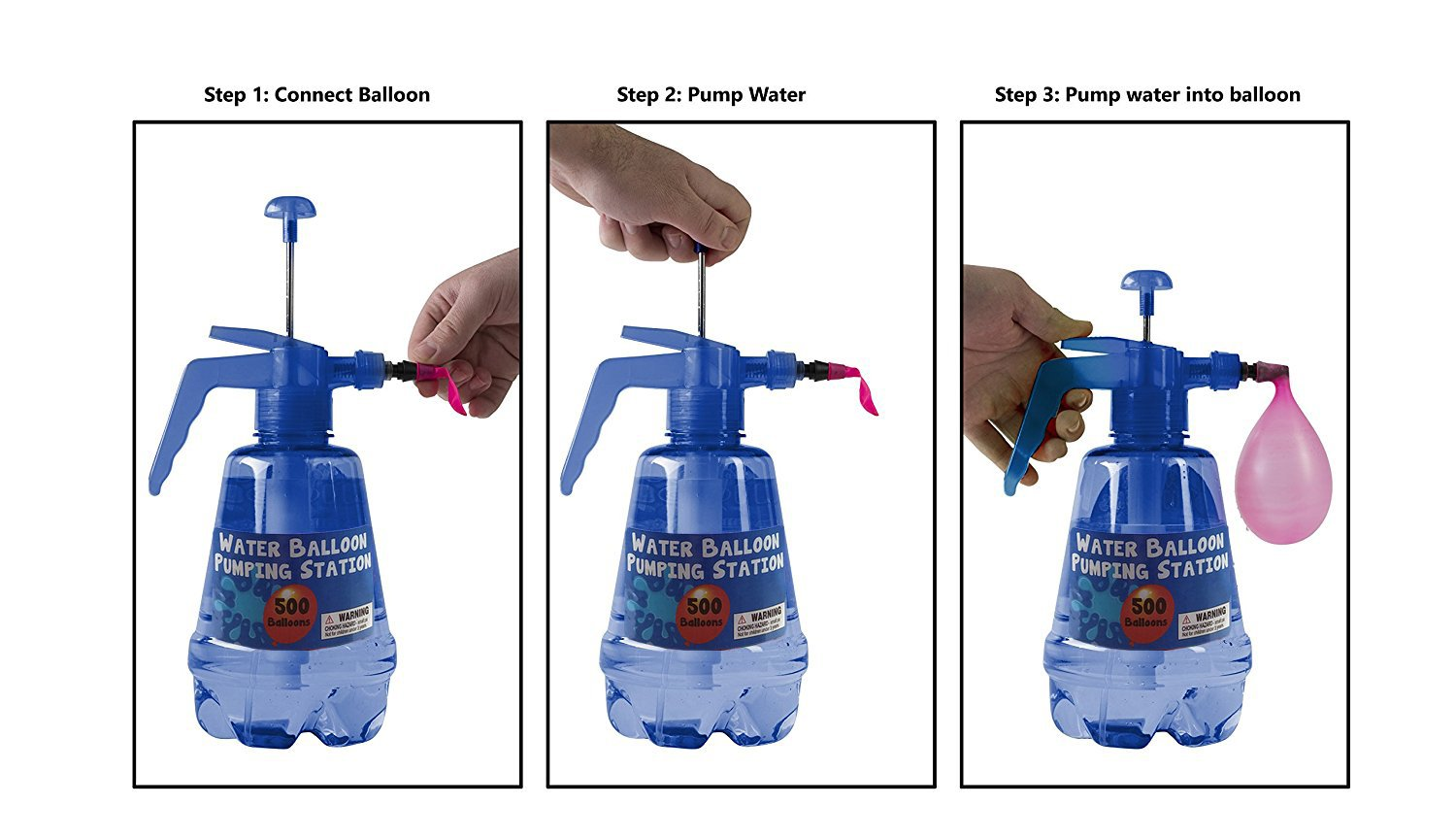 amazon com water balloon pumping station with 500 water balloons