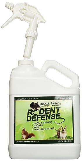 defensa de roedores - pequeña disuasión animal y repelente en spray - para las ratas, ardillas, conejos, gatos y otros animales pequeños / roedores.