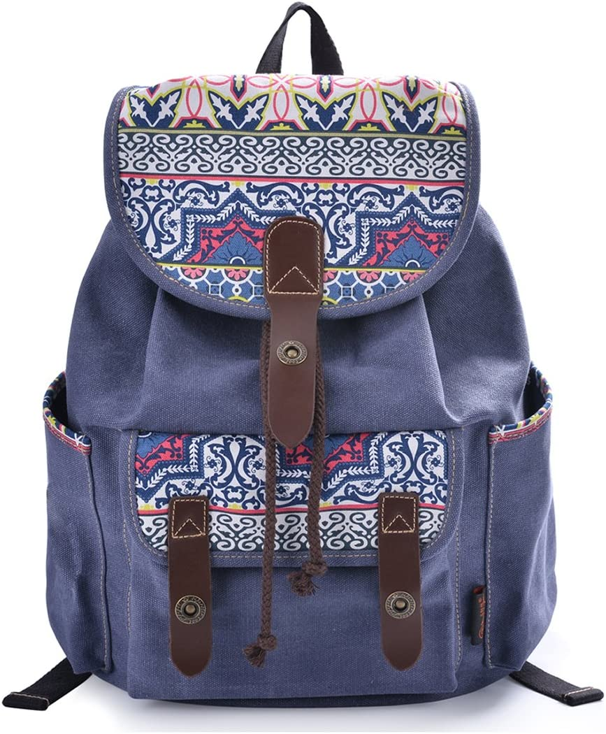 Epokris Teen Girls Bookbag Rucksack Casual Daypack Floral Backpack