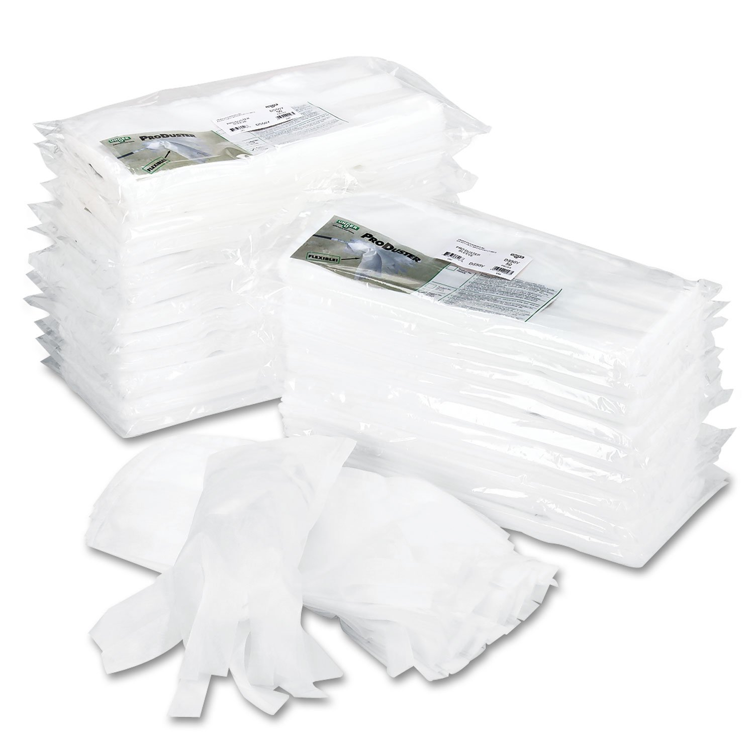Unger DS50Y Produster Disposable Replacement Sleeves, 7'' X 18'', White, 50/Pack by Unger (Image #1)