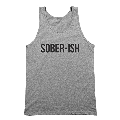 3019df35cb342 Amazon.com  Funny Threads Outlet Sober Ish Mens Tank Top  Clothing