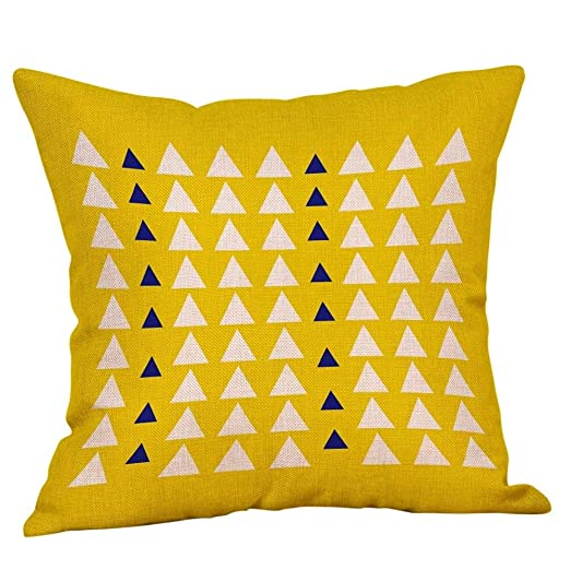 ZXZV Throw Pillowcase, Almohada geométrica Fundas de ...