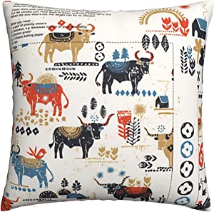 Easy Food Happy Nordic Farm Yard Decorative Square Throw Pillow Covers Cushion Cases Pillowcases for Sofa Bedroom Car 22