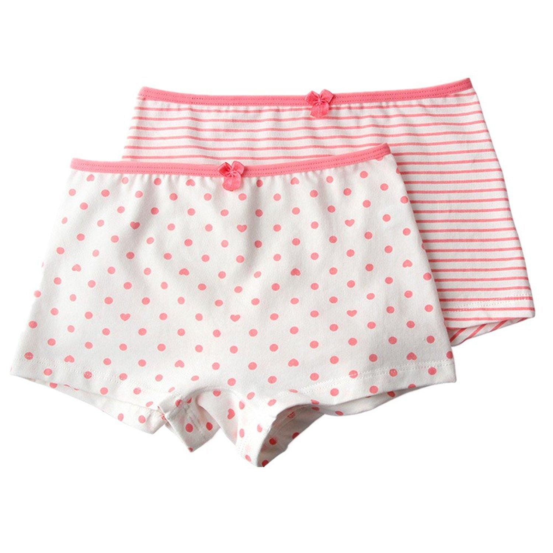 DVANIS Little Girls Underwear Cartoon Boyshort 4 Pack Briefs Pants