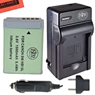BM Premium NB-13L Battery and Battery Charger for Canon PowerShot SX740 HS, G1 X Mark III, G5 X, G7 X, G7 X Mark II, G9 X, G9 X Mark II, SX620 HS, SX720 HS Digital Cameras