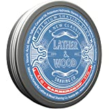 Lather & Wood Shaving Soap - Barbershop - Simply The Best Luxury Shaving Cream - Tallow - Dense Lather with Fantastic…