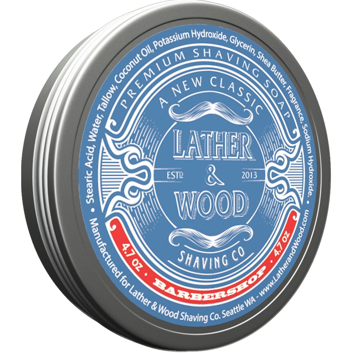 Lather & Wood Shaving Soap - Sandalwood - Simply the Best Luxury Shaving Cream - Tallow - Dense Lather with Fantastic Scent for the Worlds Best Wet Shaving Routine. 4.6 oz (Sandelwood) Lather & Wood Shaving Co.