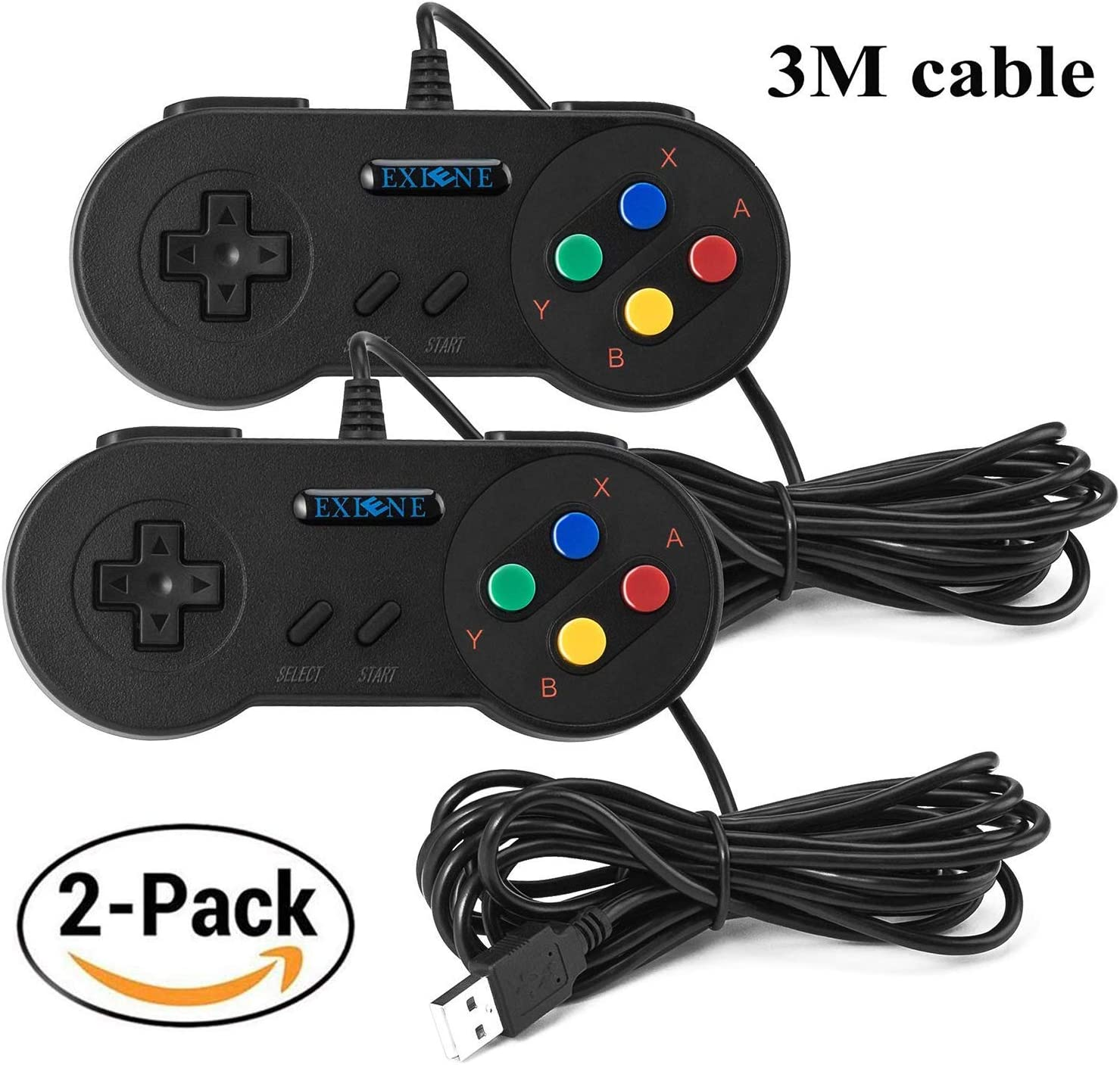 Amazon.com: Exlene® Usb Controller Gamepads Joystick 10ft/3m ...