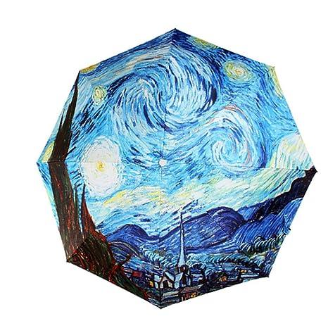Paraguas plegable MyLifeUNIT con diseño de pintura de ...
