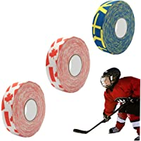 "viewm Kids Hockey Tape Cloth Sports Tape 1"" W x 11 yds Per roll, Multicolored 3 Rolls"