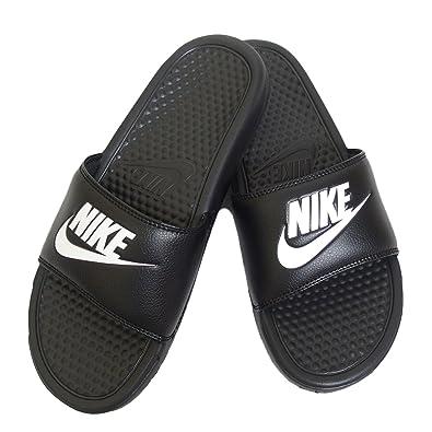 821b5c6c14e3c6 Amazon.com | Nike Mens Benassi JDI Slide Sandal (Black/Black) (10 D(M) US,  Black White) | Sandals