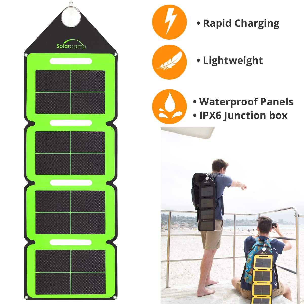 Solar Camp Waterproof Movable Folding Solar Charger