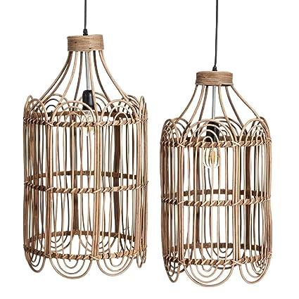 Lámparas de Techo de bambú Marrones de salón árabes para ...