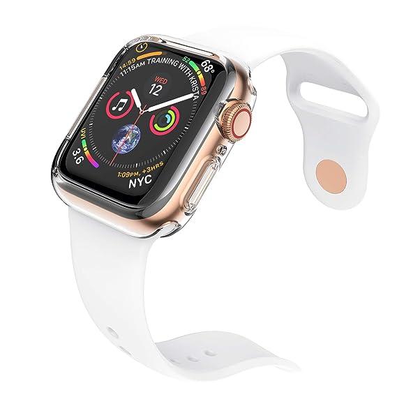 NotoCity 2-Packs Protector Funda Compatible con Apple Watch Series 4 Protección Completo TPU Anti-Rasguños Protector de Pantalla para iWatch Serie 4 ...