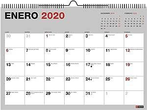 Miquelrius 28033 - Calendario de Pared A3 para escribir Gris 2020 Básico Castellano: Amazon.es: Oficina y papelería