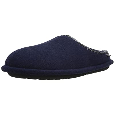 Dearfoams Men's Felted Clog with Woven Trim Slipper | Slippers