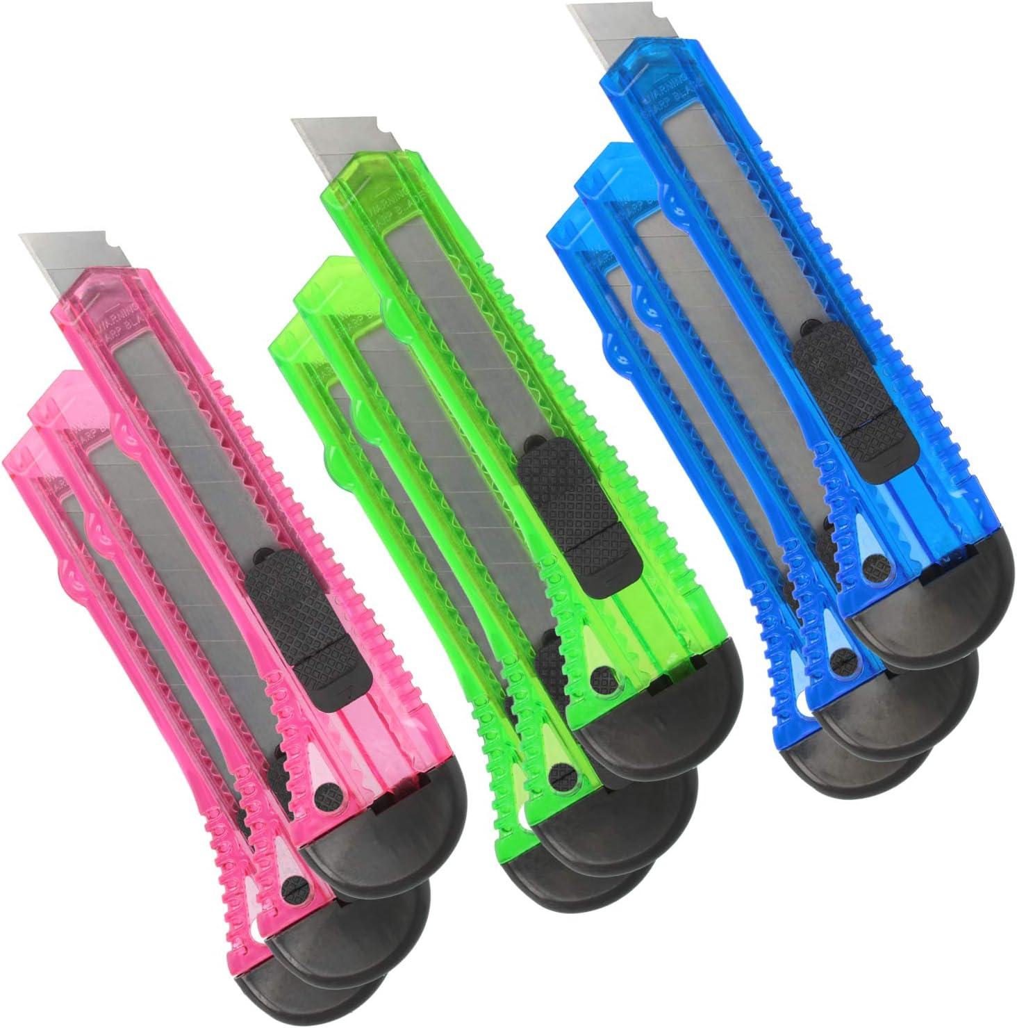 Teppichmesser mit Aluminium-Griff 14cm mit Aluminiumgriff - 02 St/ück com-four/® 2X 9 mm Cuttermesser