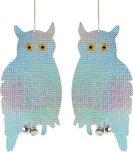 2pcs Bird Scare Reflective Owl Holographic Reflective Woodpecker Bird Repellent Fake Owl Garden Supplies