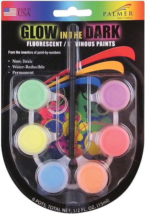 Amazon Com Poster Paint Mini Pots Fluorescent Glow In The