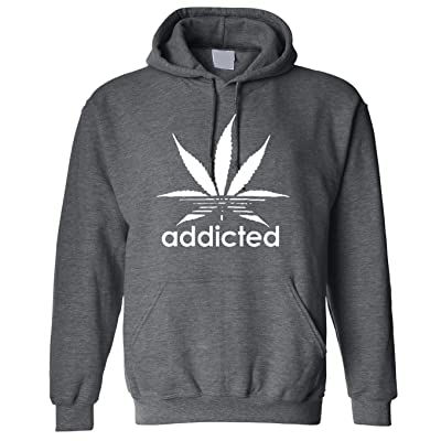 Adult Addicted Weed Stoners Hoodie Hooded Sweater