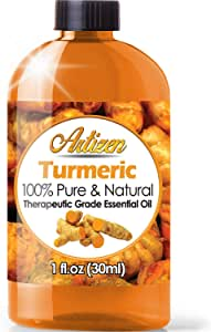 Artizen Turmeric Essential Oil (100% Pure & Natural - UNDILUTED) Therapeutic Grade - Huge 1oz Bottle - Perfect for Aromatherapy, Relaxation, Skin Therapy & More!
