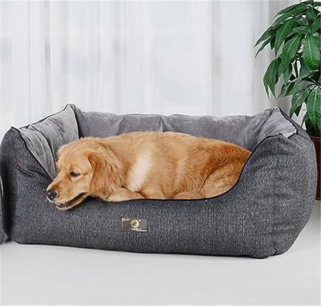 shell Tela de Algodón Gris Imitación Square Kennel Orthopedic Camas para Perros Suministros de Mascotas Extraíble