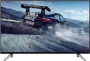 QINGZHUO Ultra HD Smart TV,Wi-Fi Bluetooth HDMI USB 4K 1920 X 1080 Pixeles Smart TV Aplicación Inteligente Negro (90 * 53 cm 42 Pulgadas / 98 * 57 cm 50 Pulgadas).