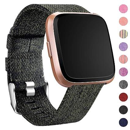 HUMENN Compatible para Correa Fitbit Versa/Fitbit Versa Lite, Pulsera Tejidas Ajustable Reemplazo Sport Wristband para Fitbit Versa Smartwatch Pequeño ...