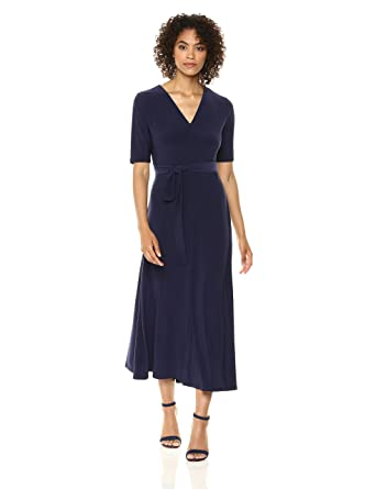 876506f528a Chaus Women s Lisa Elbow Sleeve Tie Waist V-Neck Dress at Amazon Women s  Clothing store
