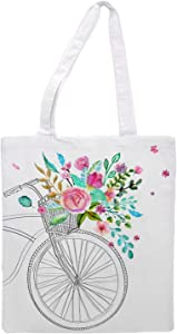 Women's tote bag/bicycle - Sports Gym Lunch Yoga Shopping Travel Bag Washable - 1.47X0.98 Ft