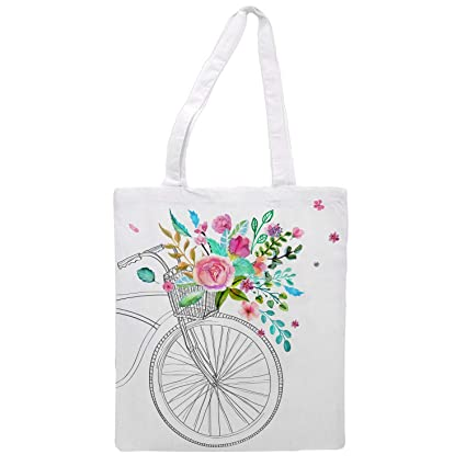 Womens tote bag/bicycle - Sports Gym Lunch Yoga Shopping Travel Bag Washable - 1.47X0.98 Ft