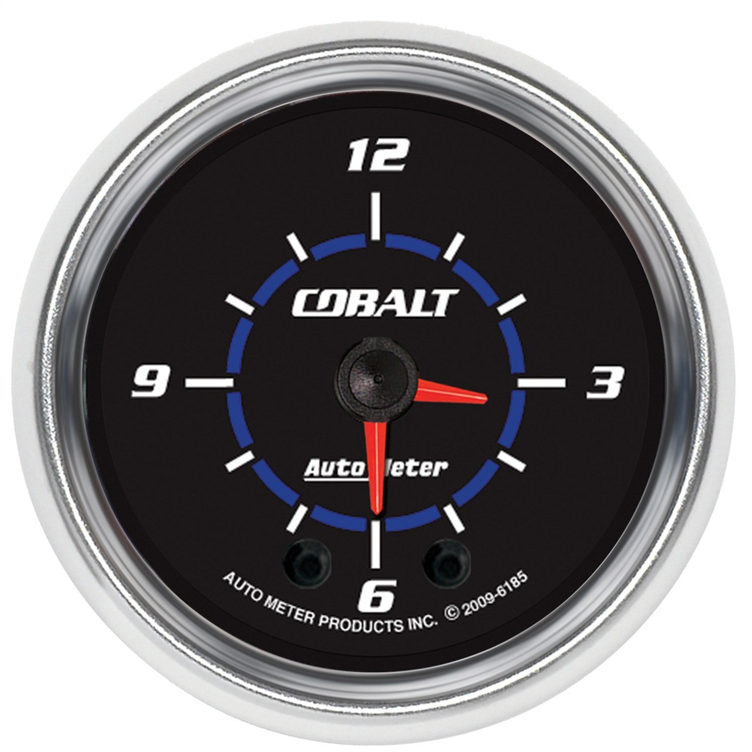 Auto Meter 6185 Cobalt 2'' Analog Illuminated Clock Gauge