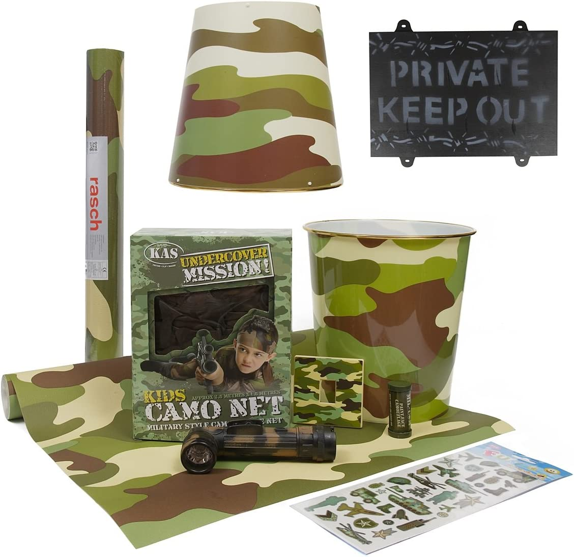 Kids Army Bedroom 10pcs Accessories Kit Includes Camo Wallpaper Army Camouflage Bedroom Ideas By Kas Amazon Ca Home