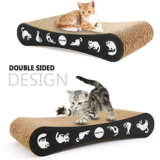 Amazon.com : RISEPRO Cat Scratching Post, Corrugated Cardboard Double-Sided 17.5 x 9X 3.5 Cat Scratcher Cat Toys Cat Bed : Pet Supplies