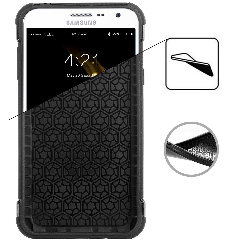 Amazon Galaxy Grand Prime Case J2 BENTOBEN 2 In 1 Hybrid Hard PC Cover Carbon Fiber Texture Anti Scratch Shockproof Protective