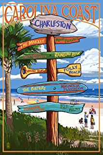 product image for Charleston, South Carolina - Destinations Sign (12x18 Art Print, Wall Decor Travel Poster)