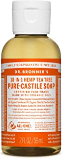 product image for Dr. Bronner's - Pure-Castile Liquid Soap (Tea Tree, 2 Ounce) - Made with Organic Oils, 18-in-1 Uses: Acne-Prone Skin, Dandruff, Laundry, Pets and Dishes, Concentrated, Vegan, Non-GMO