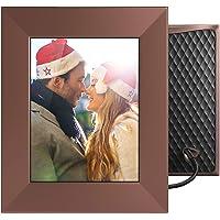 NIXPLAY Iris WiFi Smart Digital Photo Frame 8 Inch W08E Bronze. Share Photos Via Mobile App or E-Mail. IPS Display. Electronic Picture Frame with Sound Sensor