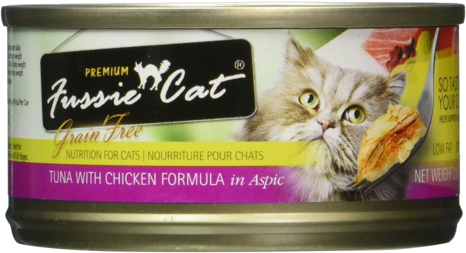 Fussie Cat Grain Free Tuna & Chicken Case 24 2.8Oz Can